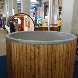 1800 L with wooden cabinet